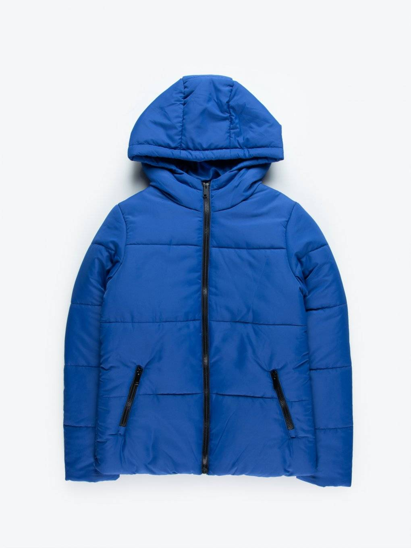 Plain puffer jacket with hood