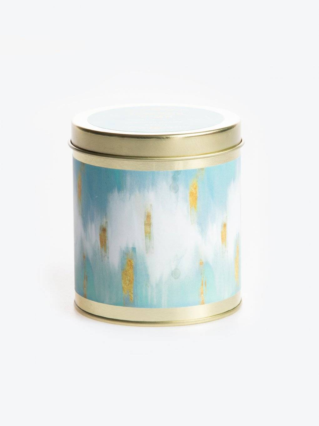 Summer time scented tin candle