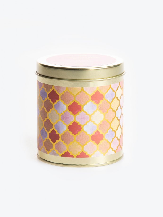 Charming rose scented tin candle