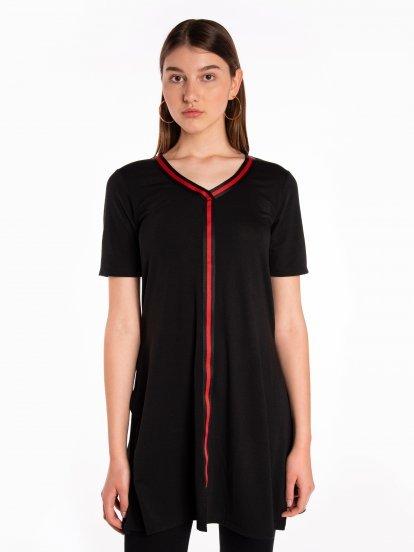Longline short sleeve top