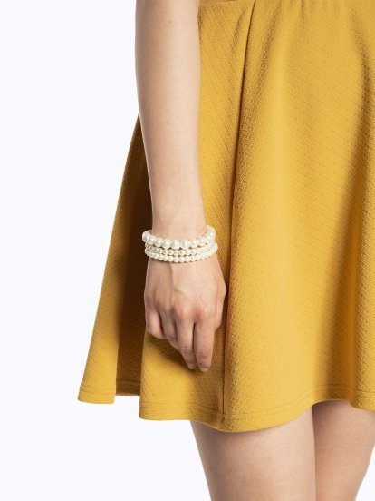 3-pack pearl bracelets set