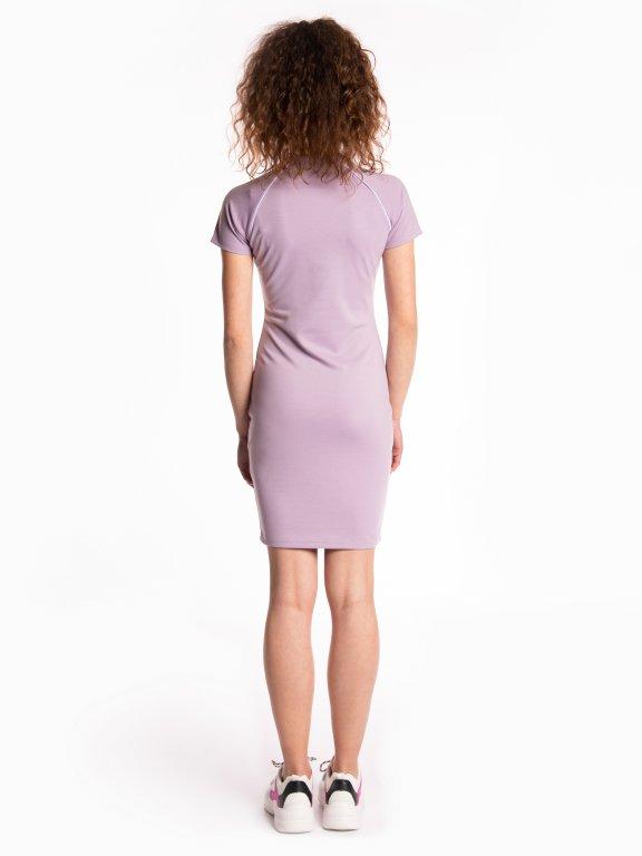 Puzdrové šaty so zipsom