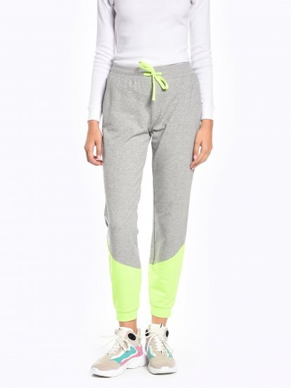 Neon panel sweatpants
