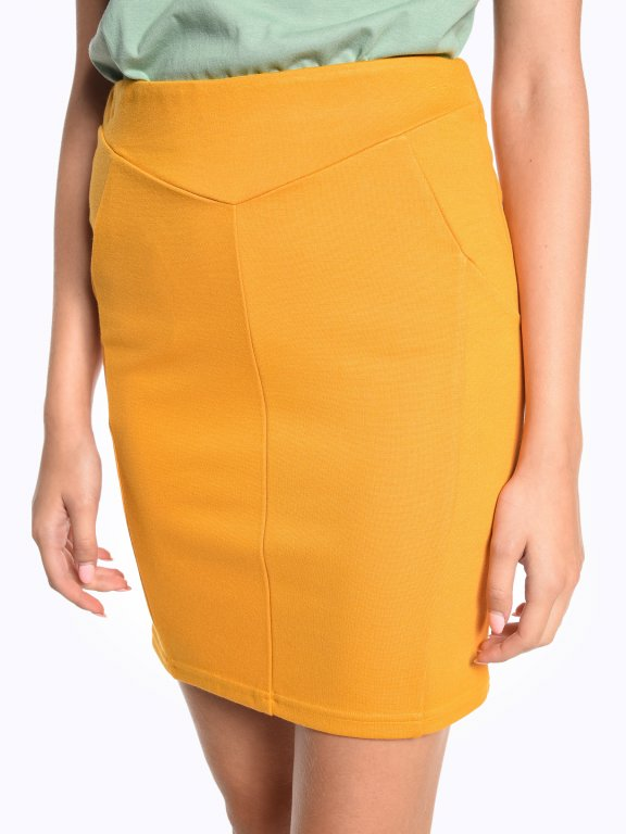 Plain bodycon skirt