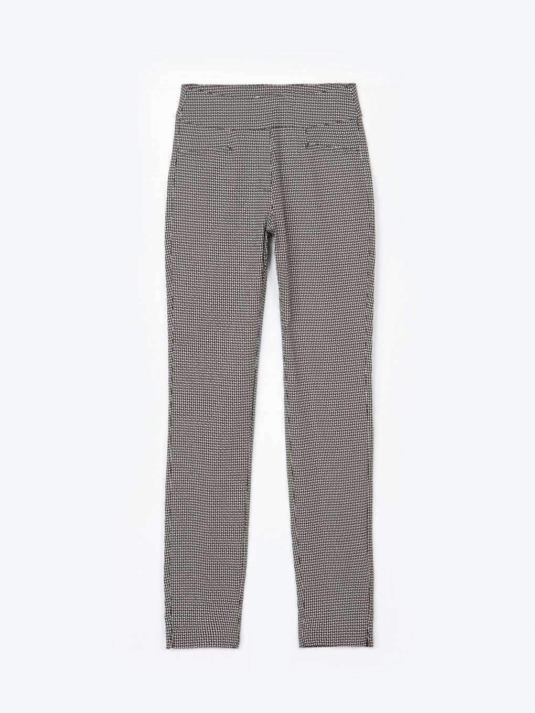 Monochrome print skinny trousers