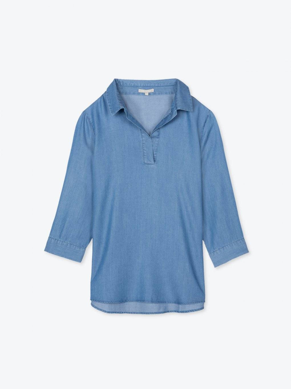 Lyocell 3/4 sleeve shirt