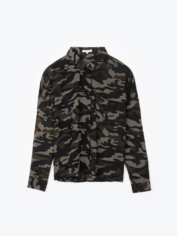Camo print oversized shirt