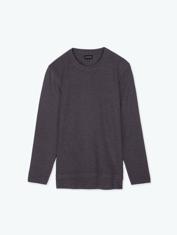 Strukturované tričko s dlouhým rukávem a vrstveným spodním lemem