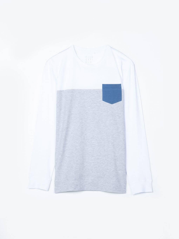 Koszulka z kontrastową kieszenią na piersi