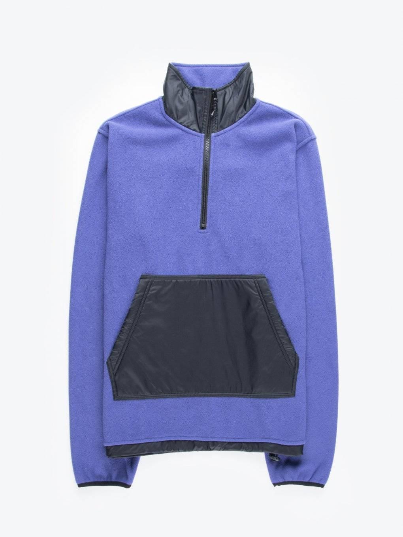 Combined fleece sweatshirt