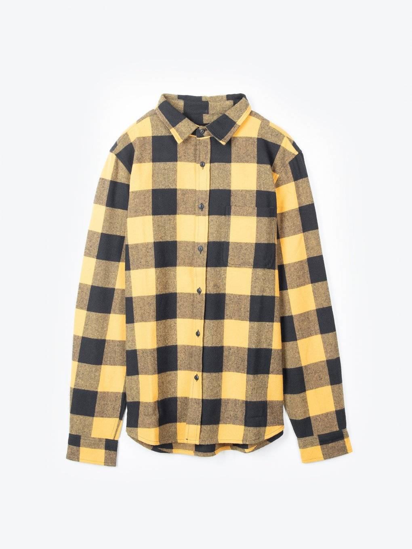 Plaid flannel cotton shirt