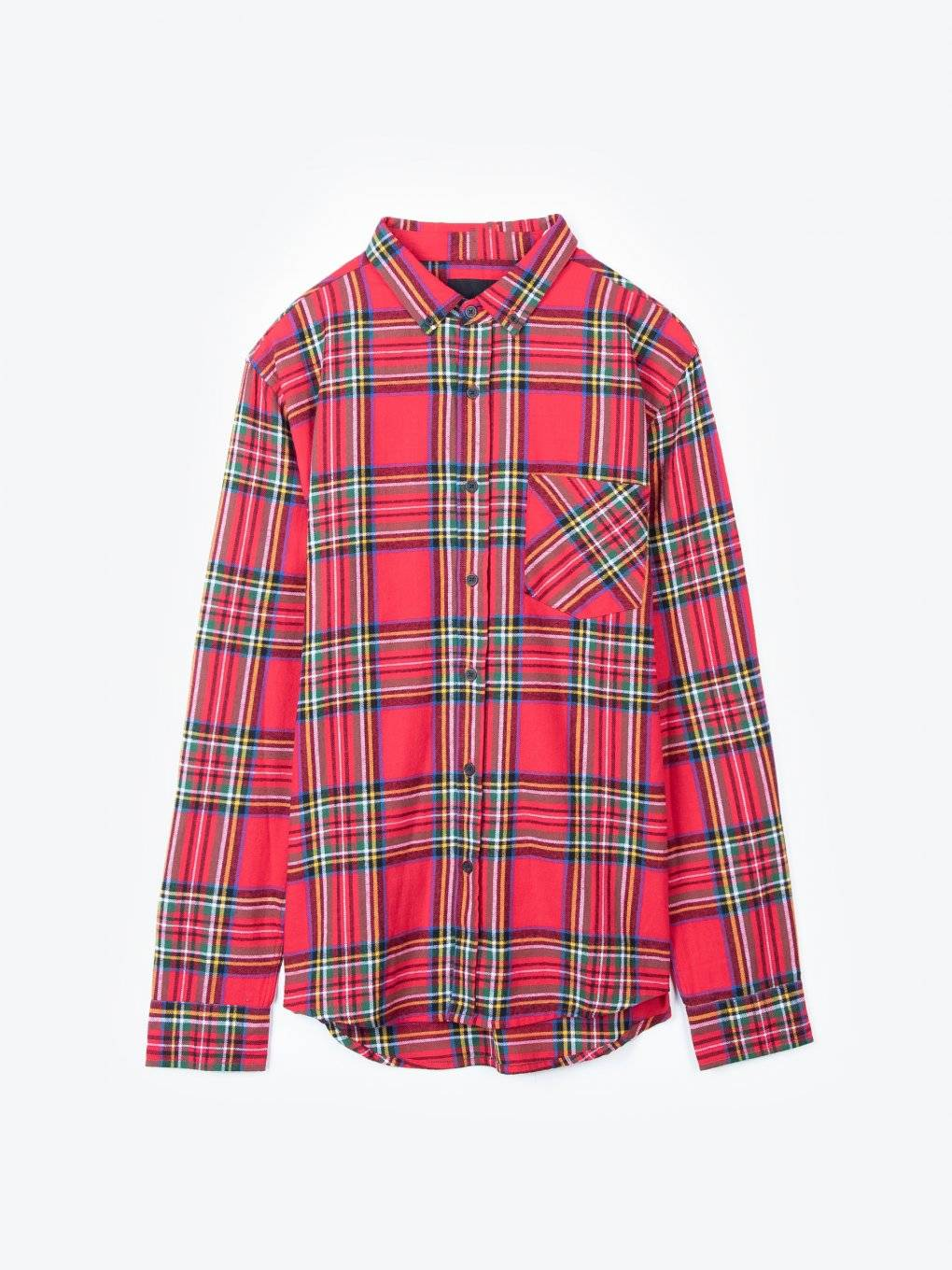 Plaid flannel cotton shirt