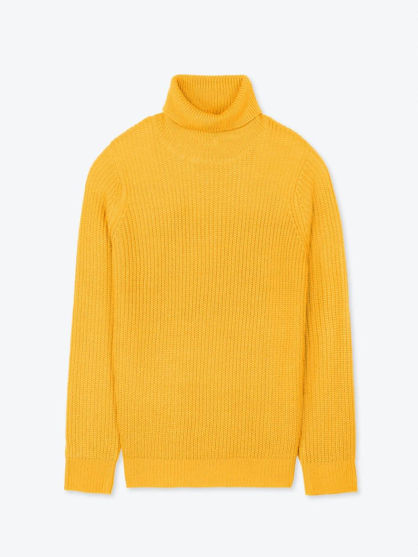 Rib-knit roll neck jumper