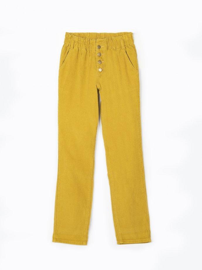 Manšestrové kalhoty regular fit