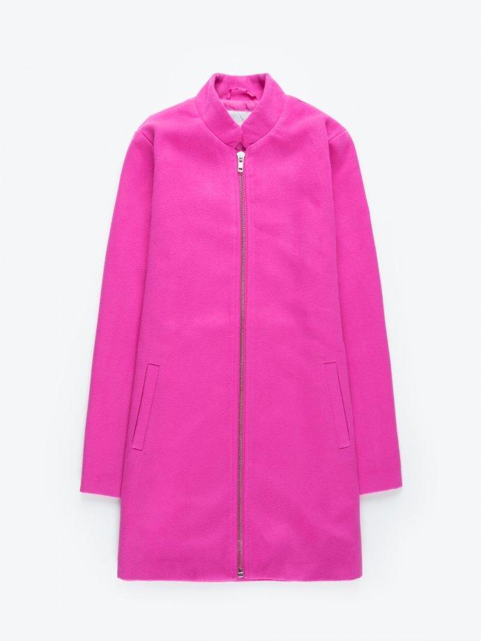Zip-up coat