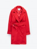 Robe coat with metal buckle