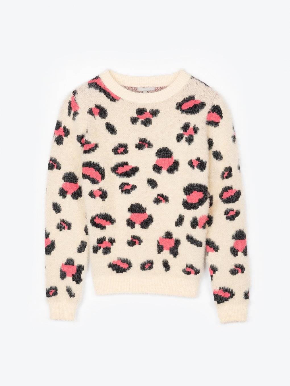 Animal pattern sweater
