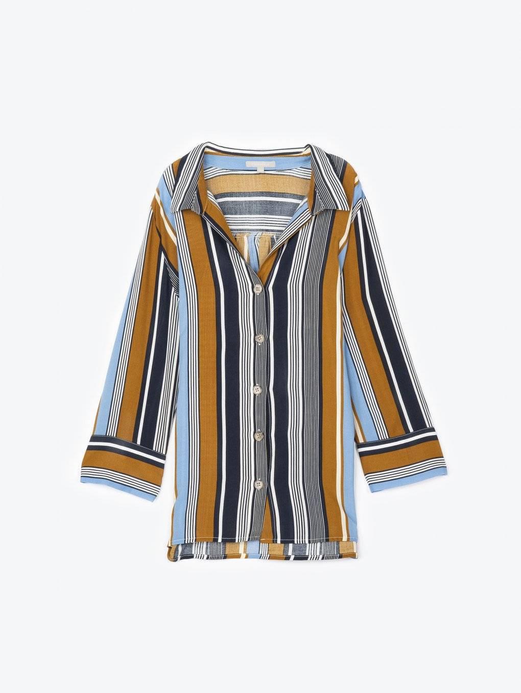 Striped viscose shirt