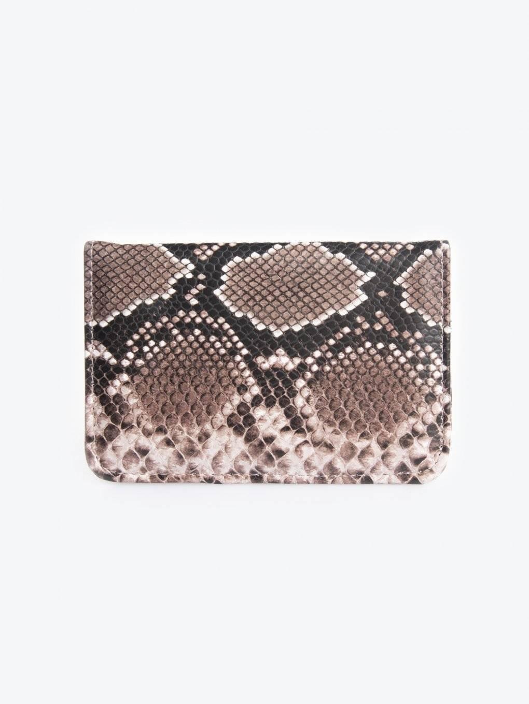 Passport case with snake skin effect