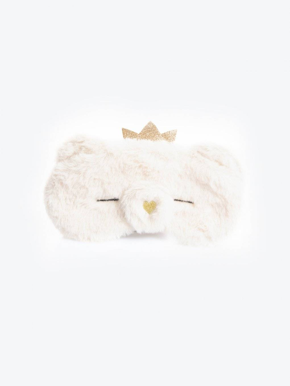 Faux fur sleeping mask