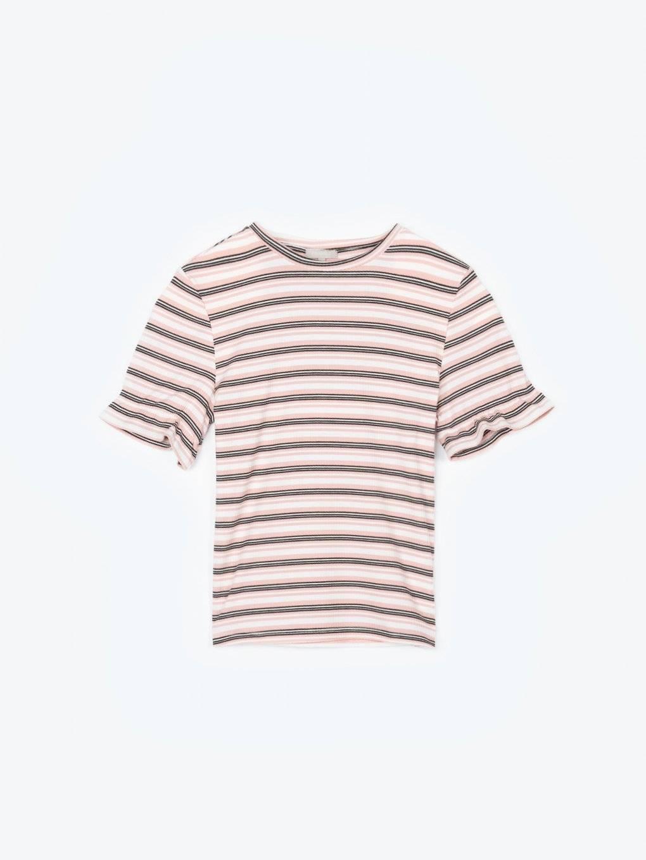 Koszulka w prążki z krótkim rękawem