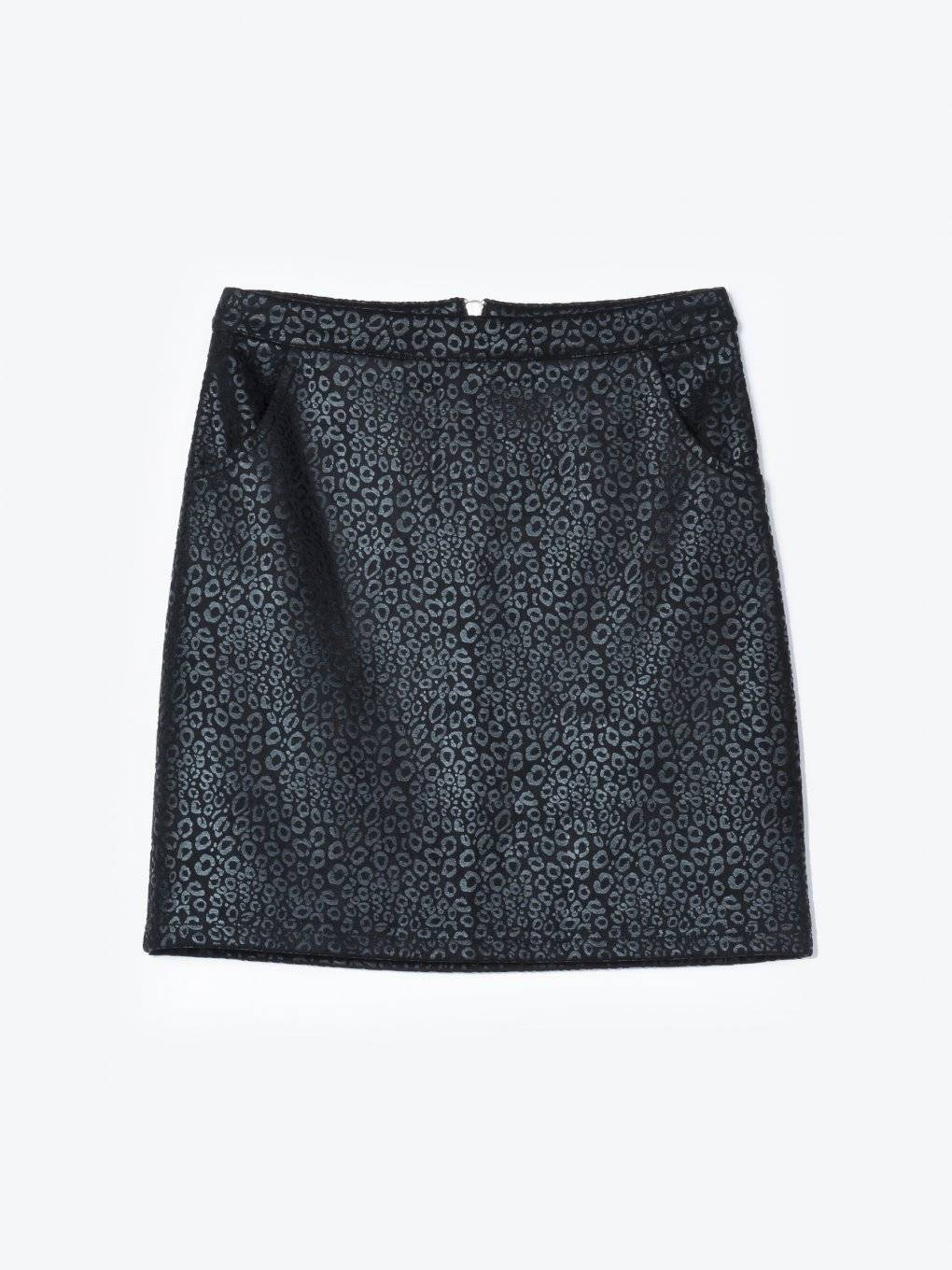 Animal texture mini skirt