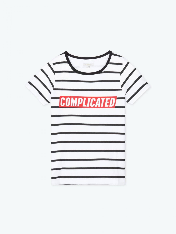 Prúžkované tričko s nápisom