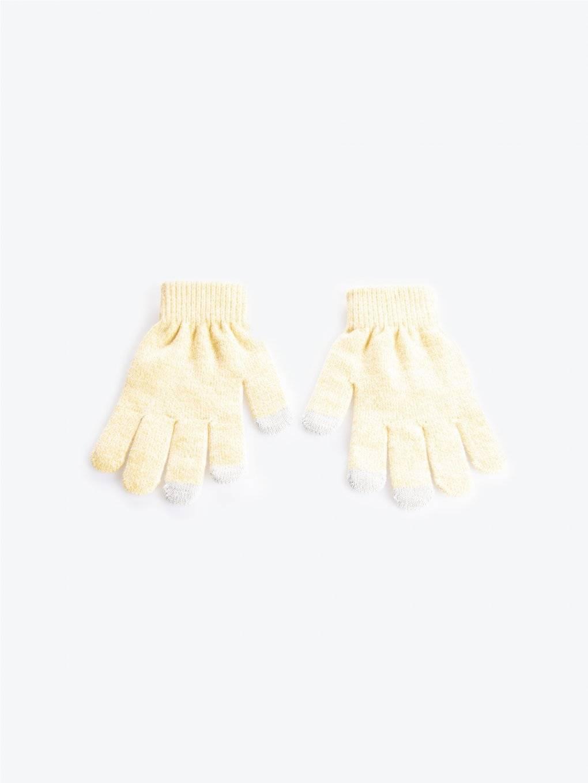 Jednoduché melírované rukavice