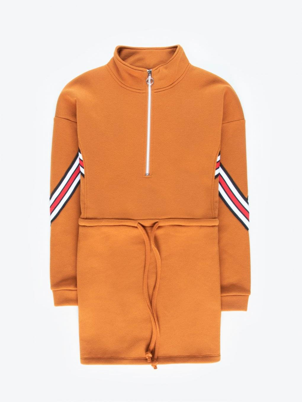 Longline sweatshirt with decorative tape