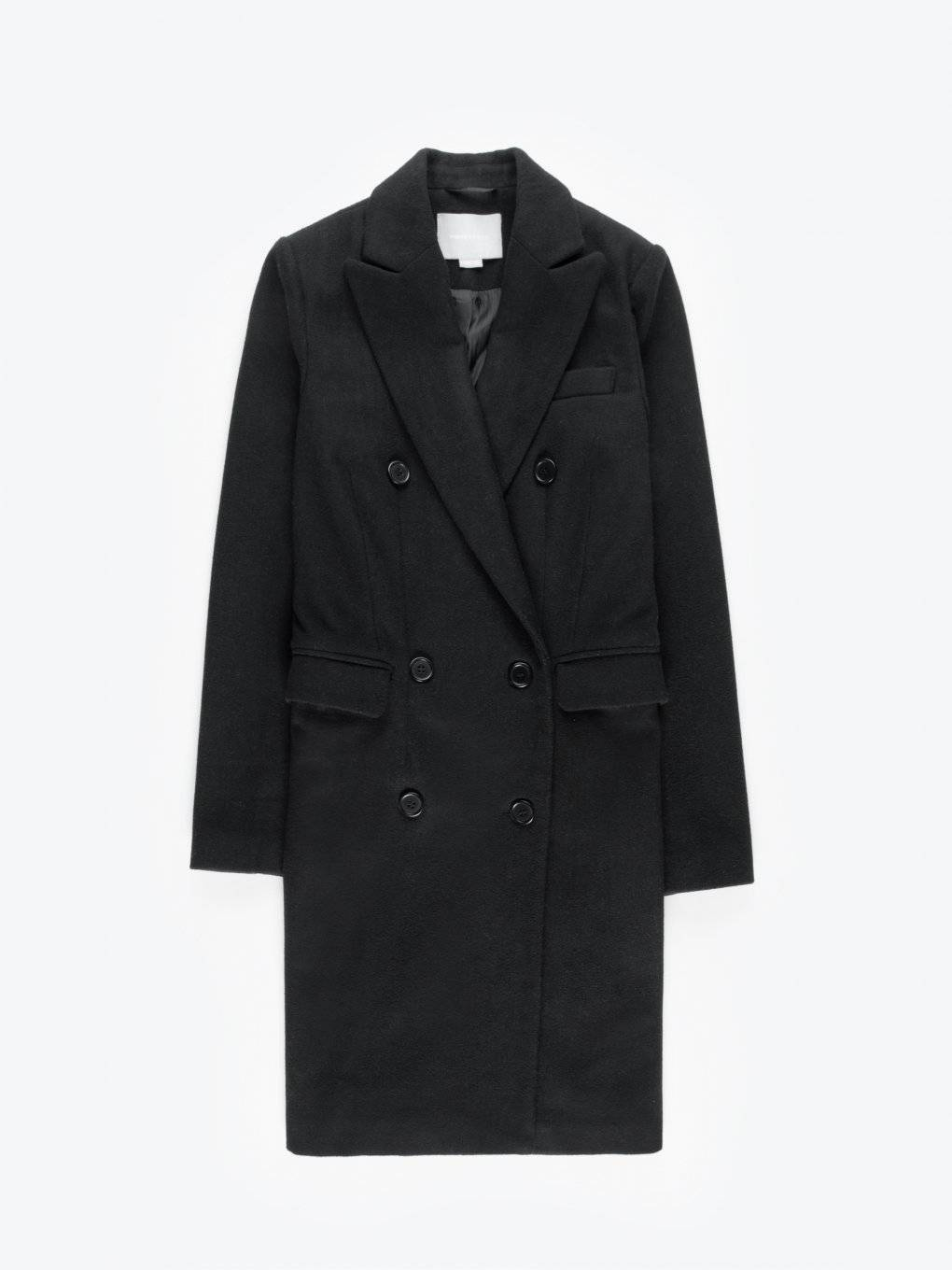 Longline double-breasted coat