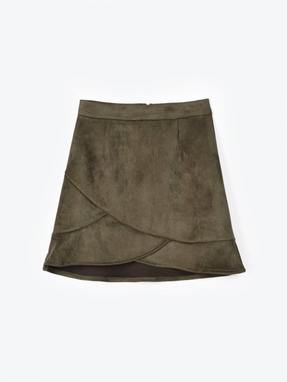 Spódnica mini z falbaną