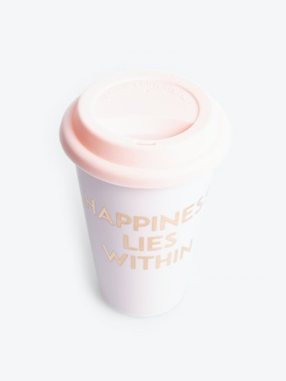 Reusable porcelain cup