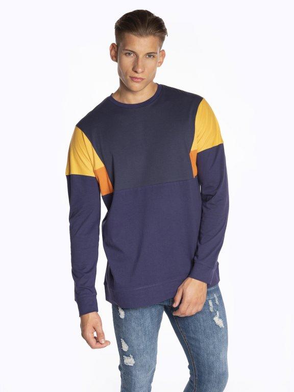 Colour block long sleeve t-shirt