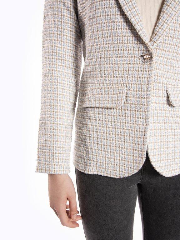 Structured single button blazer