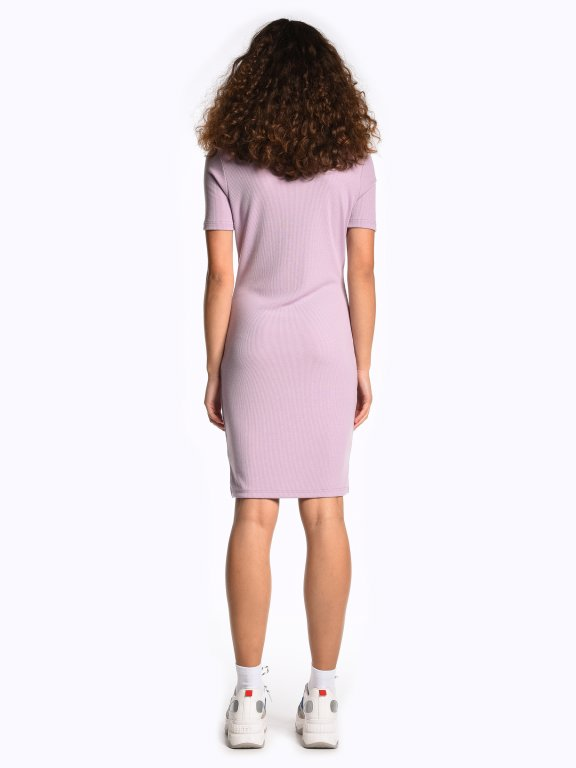 Bodycon ribbed roll neck dress