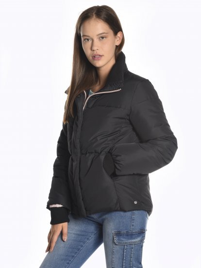Boxy quilted padded jacket