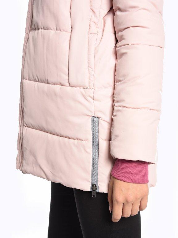 Prošívaná vatovaná bunda s kapucí