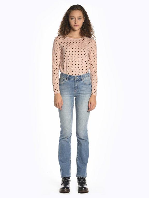 Polka dot print t-shirt