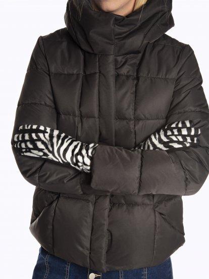 Zebra pattern gloves