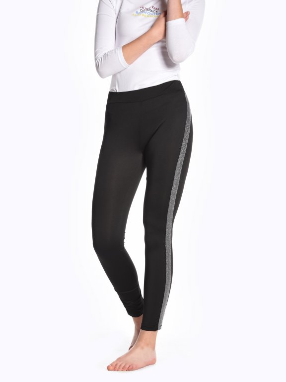 Taped party leggings