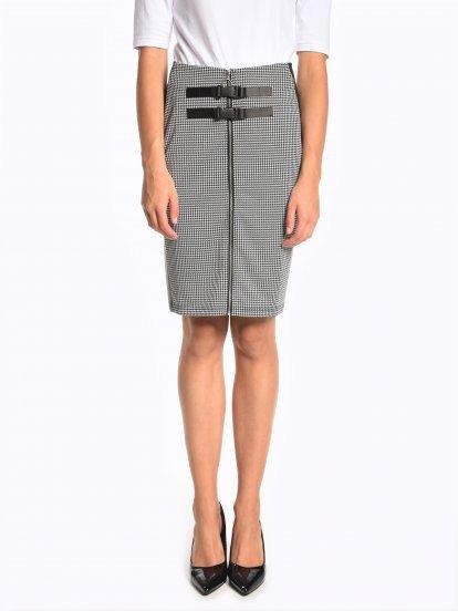 Popnutá sukně na zip s přezkami
