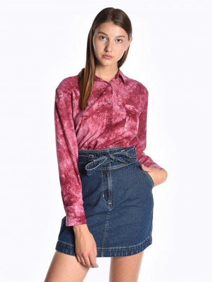 Široká batikovaná košeľa