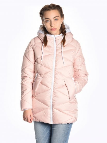 Quilted padded jacket with contrast details