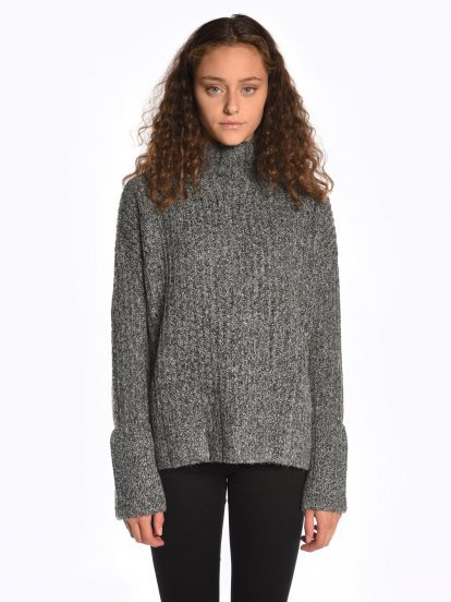 Marled high neck jumper