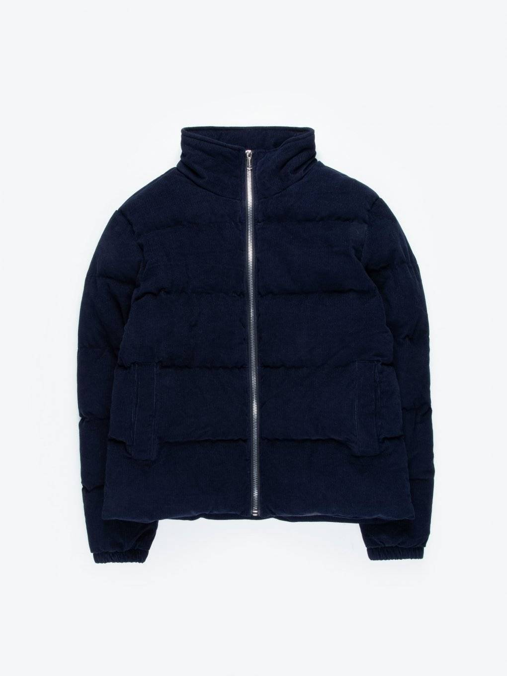 Corduroy quilted padded jacket
