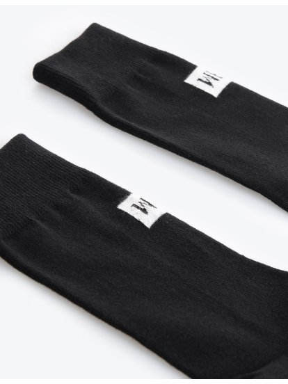 Jacquard crew socks