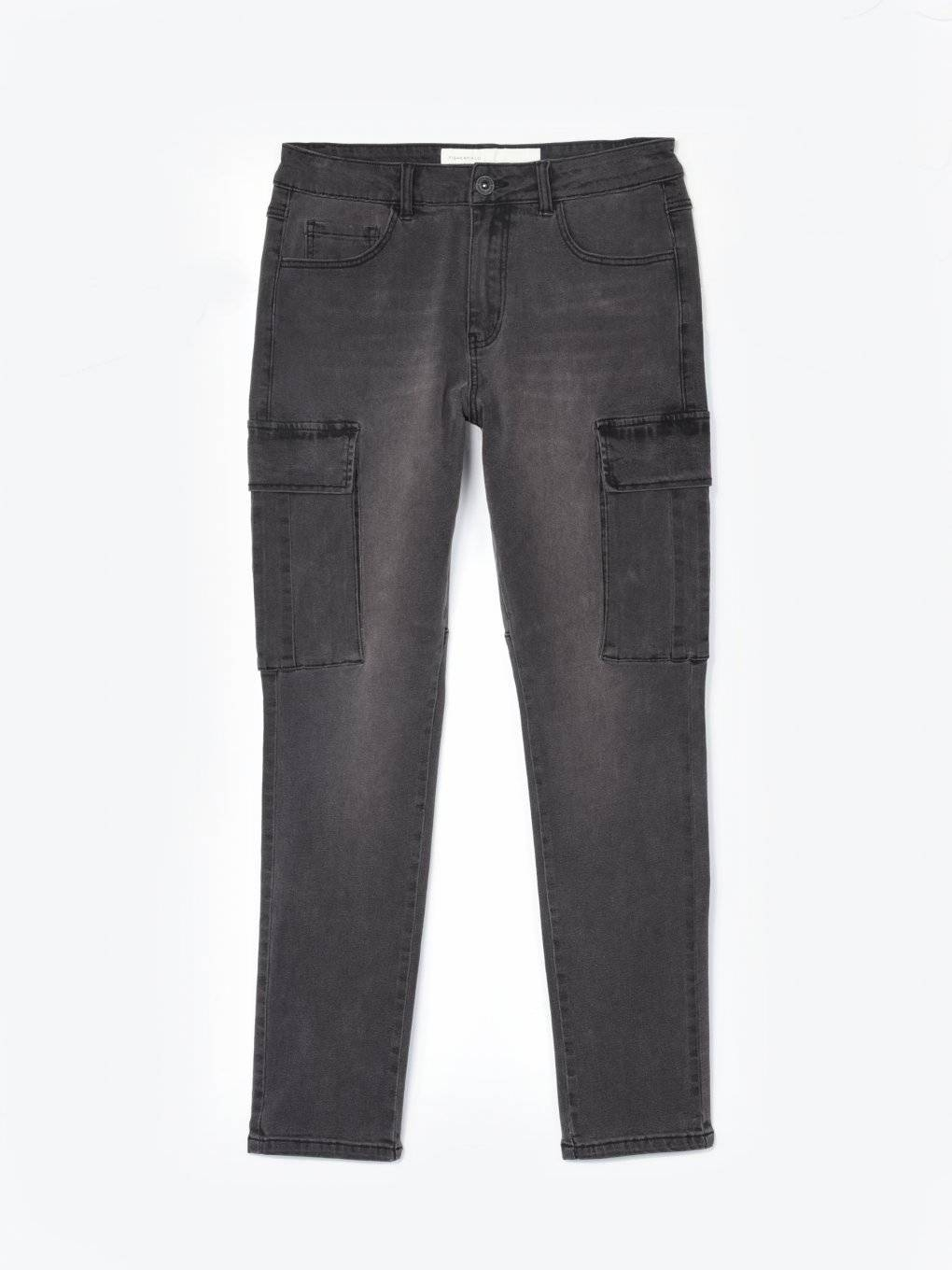 Cargo straight slim fit jeans