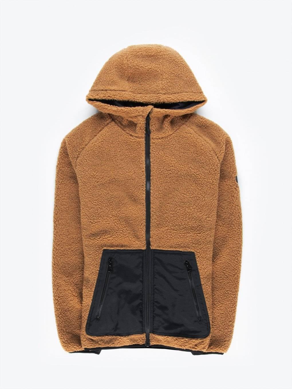 Zip-up fuzzy hoodie