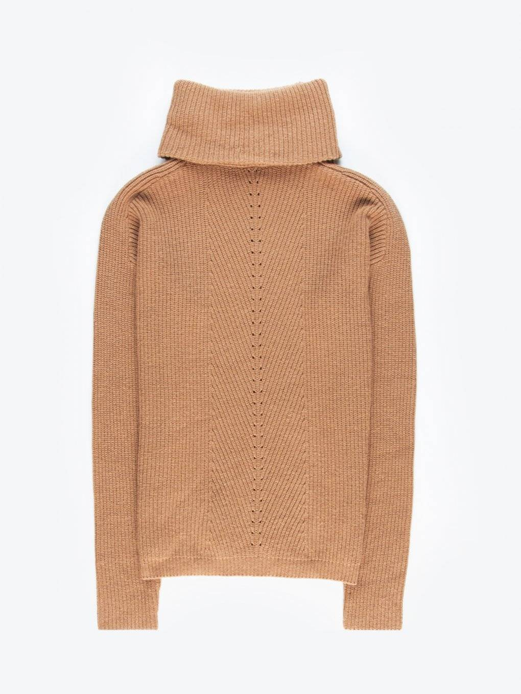 Structured roll neck jumper