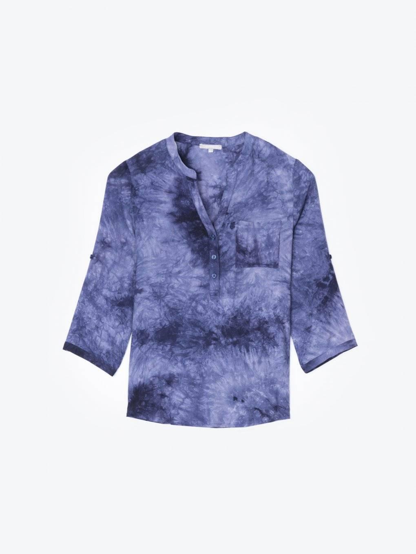 Tie-dye print blouse